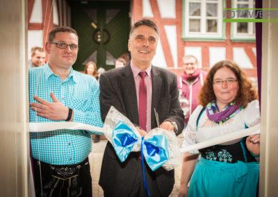 Eröffnung mit Bürgermeister Hans-Peter Seum