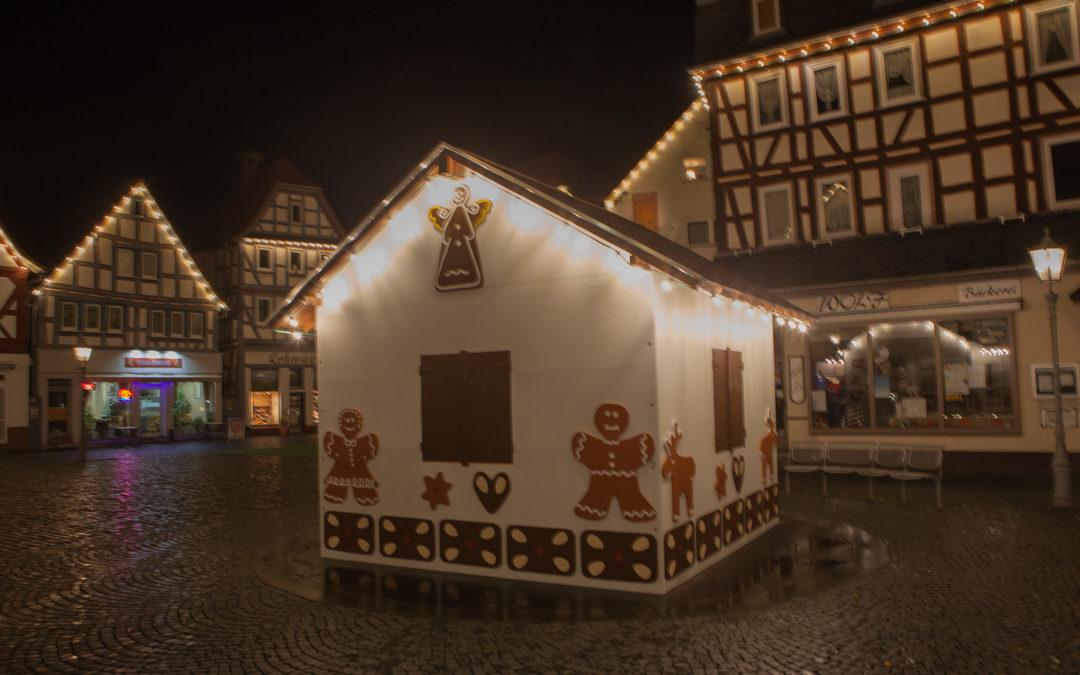 Lebkuchenhaus Nidda auf dem Marktplatz