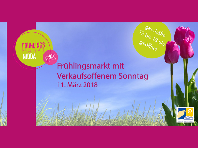 Frühlingsmarkt mit verkaufsoffenem Sonntag