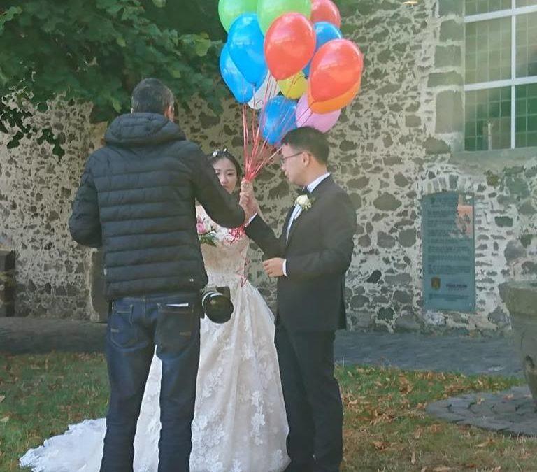 Brautpaarshooting mit Hochzeitsplanerin
