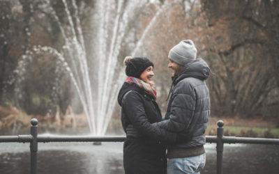 Winterliches Fotoshooting